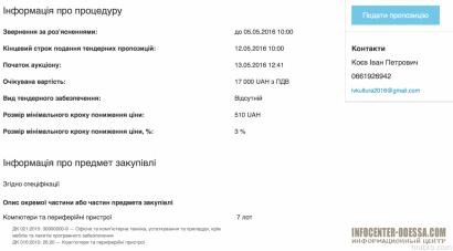 В Ивановском районе чиновники купят компьютер за 17 тысяч гривен